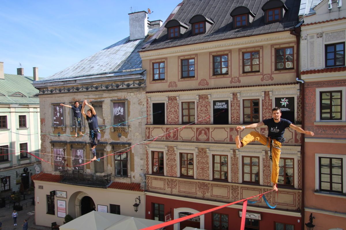 Drei Kölner Highliner in Lublin